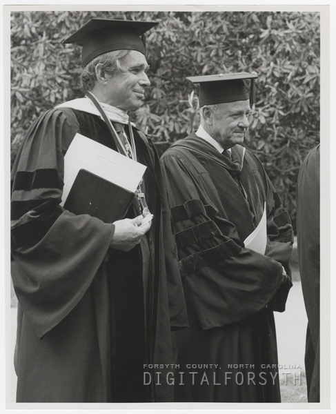James Ralph Scales with Commencement speaker, 1976