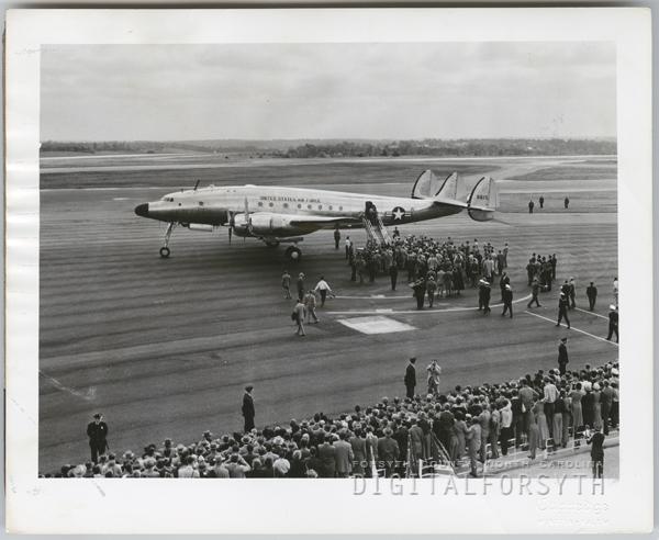 President Harry Truman's arrival