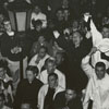 Students Welcome Wake Forest President Harold Tribble back from North Carolina Baptist Convention meeting, 1963