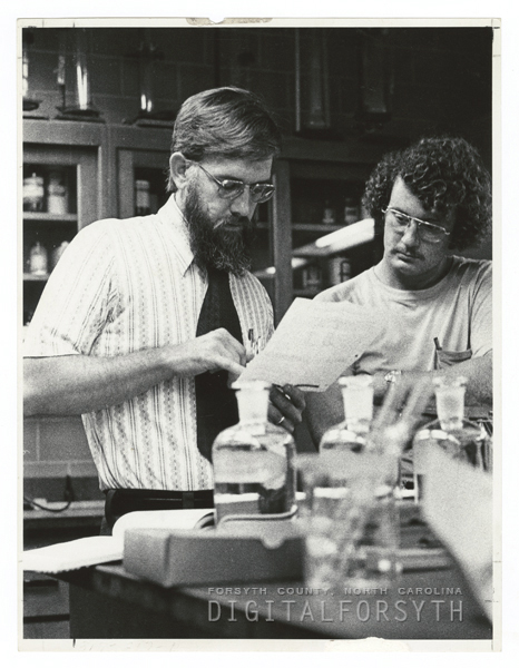 Wake Forest Chemistry professor with student