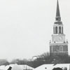 Wake Forest students in snow