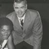Wake Forest basketball player Charlie Davis and Head Coach Jack McCloskey