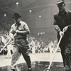 Sweeping Wake Forest basketball court during halftime