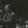 Wake Forest basketball coach Jack Murdock and player Neil Pastushok