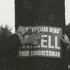 Wake Forest students with political sign