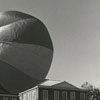 Wake Forest students with giant ball