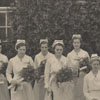 Nurses with flowers