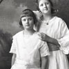 """Rowena and Virginia [Obeliss] dressed for Mary's wedding Nov. 18, 1919"""