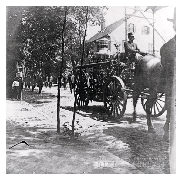 'Firemen's parade on Main Street--Salem, 1905'