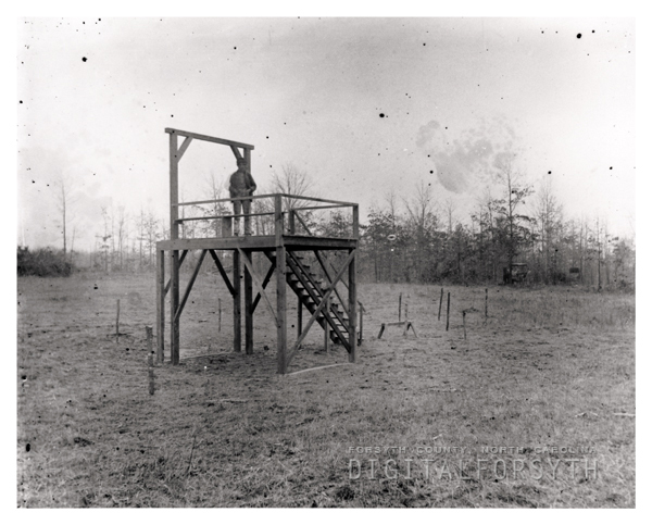 Gallows at the County Poorhouse