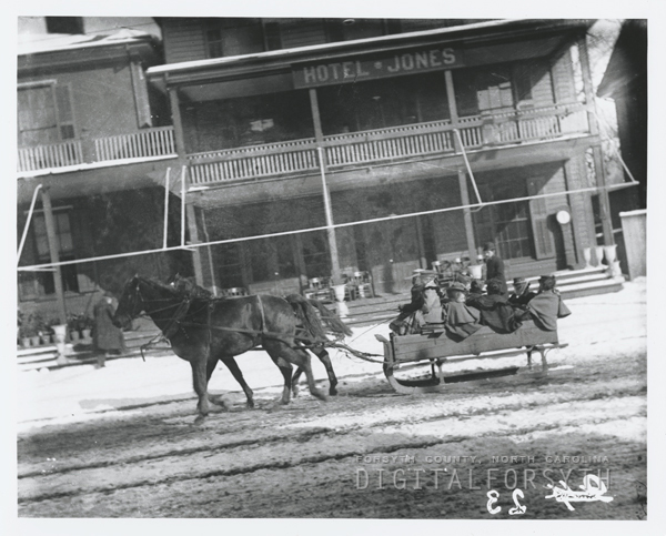 Sleigh Ride on Main Street in Winston