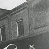 Mule and Wagon on Trade Street in Winston