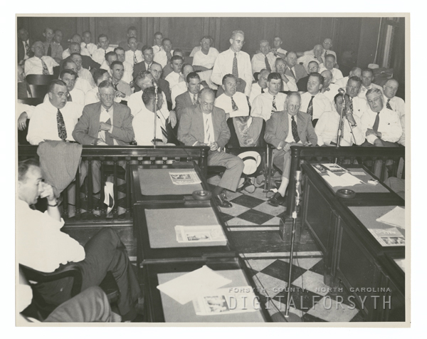 Conference on Water Survey and Conservation at City Hall, 1947.