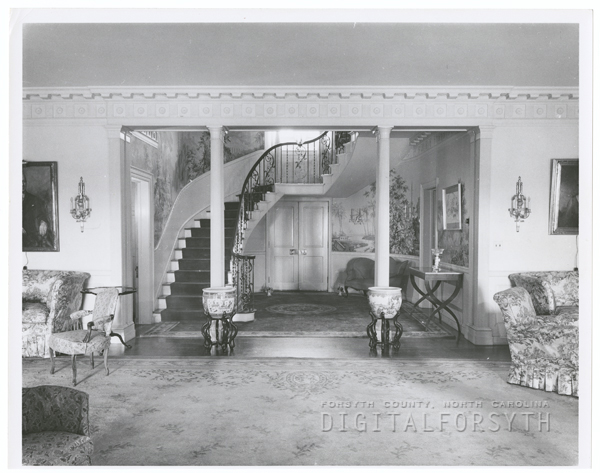 Interior view of Robert E. Lasater home and Forest Hills estate.