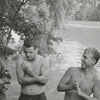 Boaters involved in boating accident near Idol's Dam, 1960.