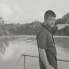 Joe Henry Glenn points to location of boating accident near Idol's Dam, 1960.