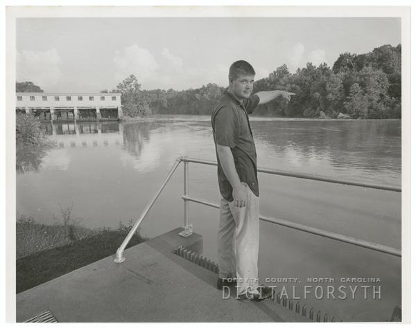 Digital Forsyth | Joe Henry Glenn points to location of boating