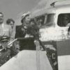 Christening of the Capitaliner Winston-Salem airplane, 1947.