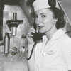 Margaret Raines, Eastern Airlines stewardess, 1947.