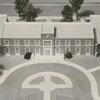 Architect's model of the James G. Hanes Community Center. 1957.