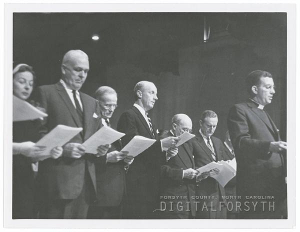 Dedication of the James G. Hanes Community Center, 1958.