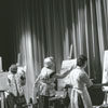 People painting at the Arts Council office at the James G. Hanes Community Center, 1964.