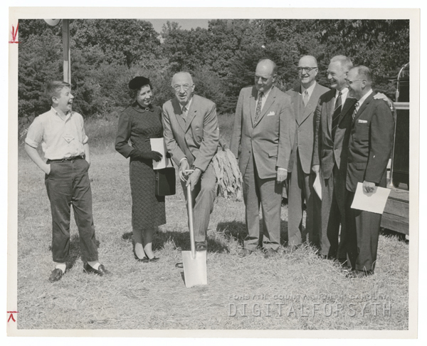 Groundbreaking for R. J. Reynolds Tobacco Company's Whitaker Park cigarette factory, 1958.