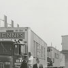 Hennis Freight Lines trucks at Whitaker Park, 1962.