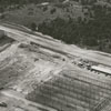 Aerial view of the Whitaker Park cigarette factory under construction.