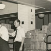 Handling December holiday mail at the Post Office, 1939.