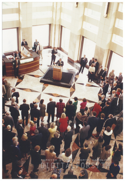 Dedication of the new Wachovia Center, 1996.