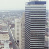 View of North Main Street from the 28th floor of the new Wachovia Center, 1996.