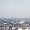 Aerial of downtown looking northeast, from the new Wachovia Center, 1996.