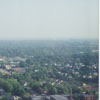Aerial looking south on Main Street and Liberty Street, at Interstate 40, toward Old Salem and Washington Park, 1996.