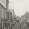 View of North Trade Street from West Fourth Street, looking north, 1918.
