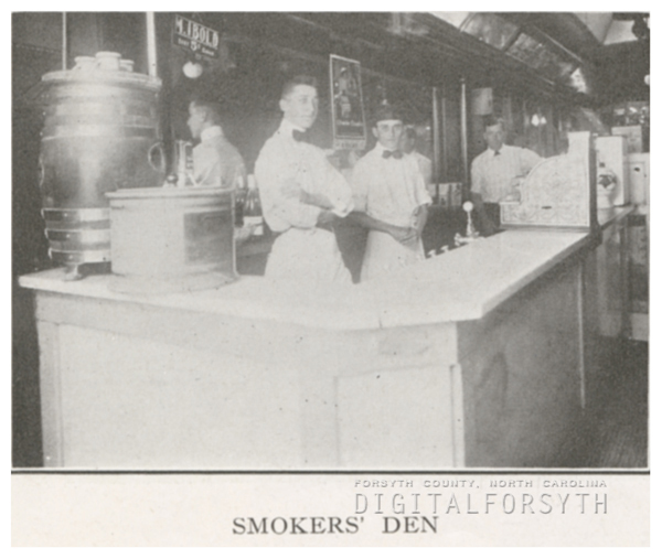 The Smokers' Den, 1918.