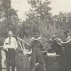 Dewey Williard, Alex P. Jones, Jack Witherspoon and workers from Standard Motor Sales.