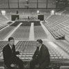 Wayne Corpening and Bob Ellett in the Memorial Coliseum, 1961.