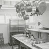 The kitchen in the Manor House restaurant  at Tanglewood Park, 1961.