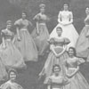 Salem College's May Day Queen and Court, 1960.
