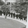 Students lined up for graduation exercises at Wake Forest College, 1960.