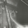 Charles H. Jones building fire at East Third and Church Streets, 1960.