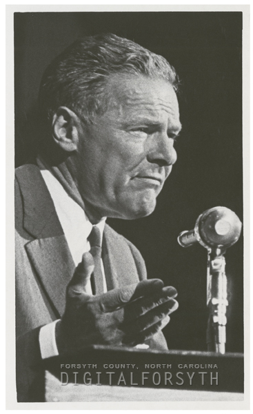 Henry Cabot Lodge speaks at a political rally at the Memorial Coliseum, 1960.