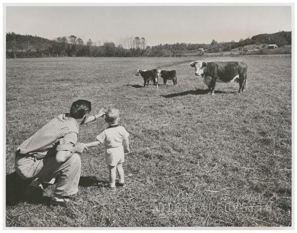 Louis B. Dula Jr. and son Michael, 1960.