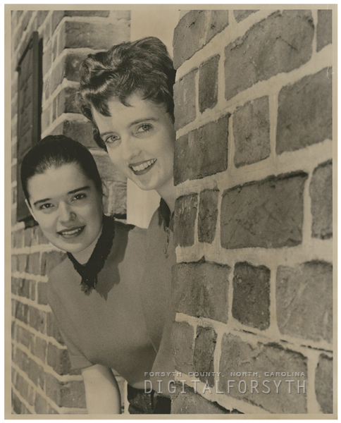 Sarah Tesch and Mary Lu Nuckols, 1959.