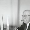 Harry Lineback making Moravian stars, 1959.