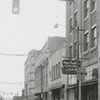 Split view of North Liberty Street at the left and West Fourth Street at the right, 1962.