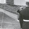 Panorama of Groves Stadium on the date of the stadium dedication, 1968.