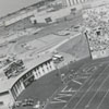 Panorama of Groves Stadium during a football game between Wake Forest and Clemson, 1968.