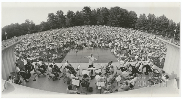Music at Sunset concert by the Winston-Salem Symphony, 1969.